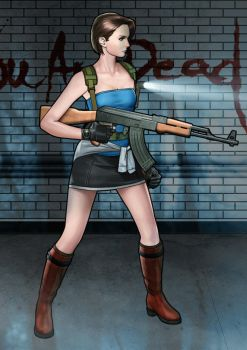 Jill Valentine RE3 by JaysonHuangDraws