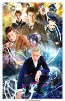 -Doctor Who 10th anniversary- by Orchidea-Blu
