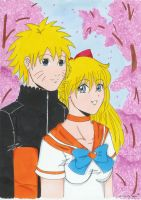 Naruto and Minako xDD by Lyncoris