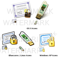 Miscellaneous Security Icons by pookstar