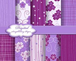 Purple Fabric lines Patterns by vectorbackgrounds