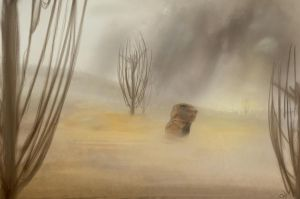 Wasteland on a bad day by robinweatherall