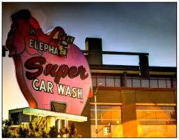 Car Wash Sign HDR by Mackingster