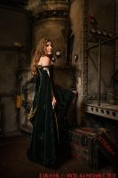 Green and gold corset dress 2012 collection ' by Esaikha