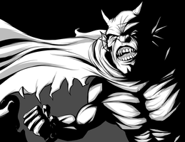 Etrigan Black and White by JarOfComics