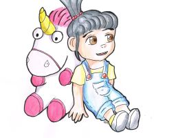 Despicable Me - Agnes and the fluffy unicorn by LilliNoname