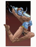 Aayla in Motion by WBreaux