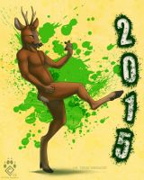 Happy Nude Deer 2015 by Idess