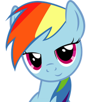 Dat Eyes Rainbow Dash by SlyFoxCl