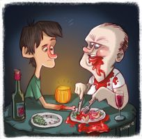 Dinner With Hannibal by JeffVictor