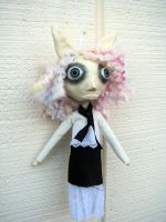 Nelly Bunny art doll ornie by Miss-Millificent