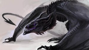 Dark wyvern by Allagar