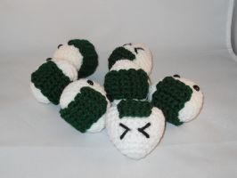 Pile of Onigiri by Crittercre8r