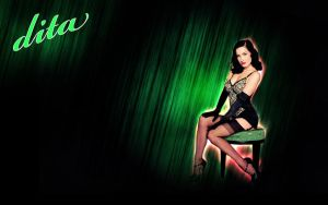 Dita Von Teese Wallpaper by oxAmixo
