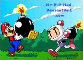 SuperMario vs BomberMan by Mr-P-P-Hed
