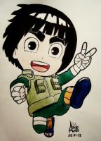 Rock Lee -CHIBI- by naldojunio