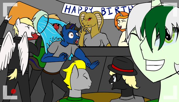 Xcom's Birthday celebration for Alex by SyforceWindlight