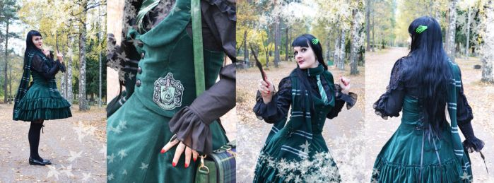Hogwarts Slytherin new school uniform by Ventovir