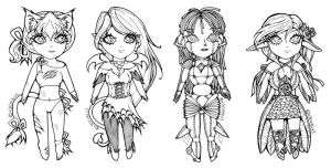 -ADOPTABLE LineArt- by x3Chibix3
