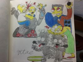 The simpsons:Arcade Final stage (Nuclear plant) by komi114