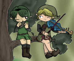Saria and Fado by LohiAxel