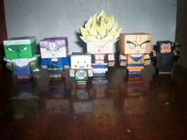 GUERREROS Z GOKU TRUNKS KRILIN CUBEECRAFT by tenchaos