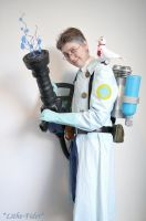 BLU Medic Cosplay 3 by Lithe-Fider