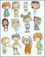 watercolour kids 2 by elbooga