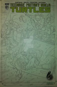 TMNT COMMISSION WIP blank cover by UltimateRubberFool