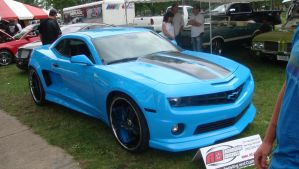 Blue chevy camaro pass side by Toolarmy0