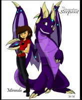 Miranda the Purple Dragon by Inked-Alpha