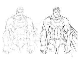Michael Turner SUPERMAN by TimTownsend