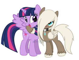 Twilight and Sky Grace by MaddiKitten