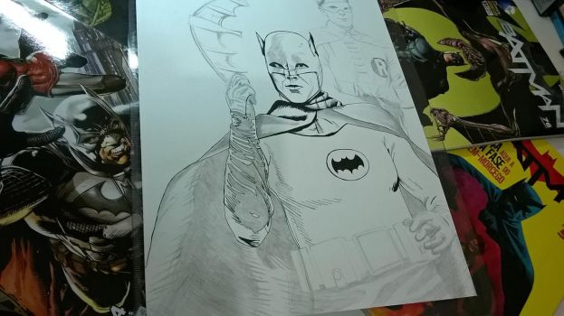 Adam West and Burt Ward (Ink in Progress) by MaikeLaise