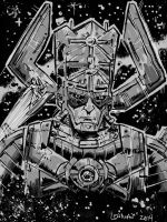 Galactus and Silver Surfer by SeanLenahanSD