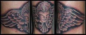 Angel tattoo by D3adFrog