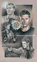 Dean Winchester study by scotty309