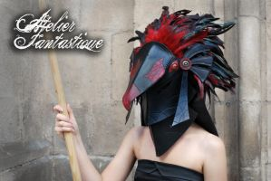 Horus bird leather mask by AtelierFantastique