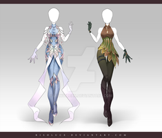 (CLOSED) Adoptable Outfit Auction 164-165 by Risoluce