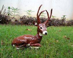Deer Sculpture by aakritiarts