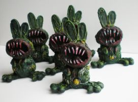 evil zombie bunnies by richardsymonsart