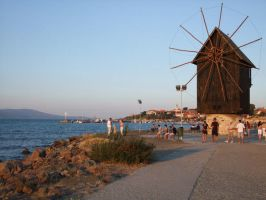 Nesebar Bulgaria Windmill by snoopcho-photos