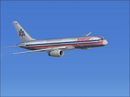 American Airlines 757-200 FL-350 (35,000FT)(FSX) by mikethelucario