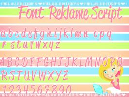 Font REKLAME SCRIPT by MeluuEditions