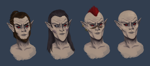 Dunmer Male Faces by fucduck