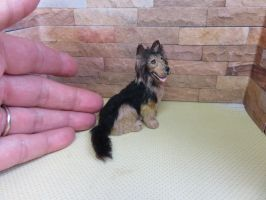 Bailey now on ebay 1:12 scale longhaired alsation by squizzy7o7