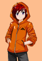 Axel: in a hoodie by Hero-of-Awesome