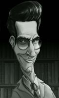 Egon Spengler Caricature Portrait by SarahMiele