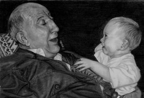 Young and Old Contest Winner by PortraitPencilArt
