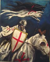 knights templar my painting by cliford417